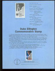 2211 22c Duke Ellington USPS 8611 Souvenir Page 8611