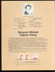 2168 1c Margaret Mitchell USPS 8618 Souvenir Page 8618