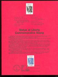 2224 22c Statue of Liberty USPS 8619 Souvenir Page 8619