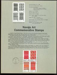 2235-8 22c Navajo Art USPS 8623 Souvenir Page 8623