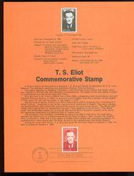 2239 22c T. S. Eliot USPS 8626 Souvenir Page 8626