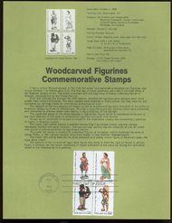 2240-43 22c Woodcarvings USPS 8627 Souvenir Page 8627