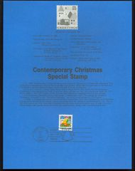 2245 22c Holiday Village USPS 8628 Souvenir Page 8628