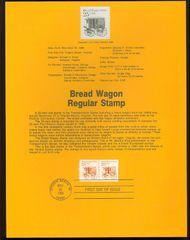 2136 25c Bread Wagon Coil USPS 8631 Souvenir Page 8631