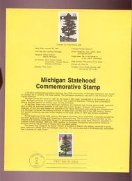 USPS Souvenir Page 87-2   2246      22c Michigan 87-2