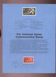 USPS Souvenir Page 87-3   2247      22c Pan Am Games 87-3