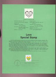 USPS Souvenir Page 87-4   2248      22c Love 87-4