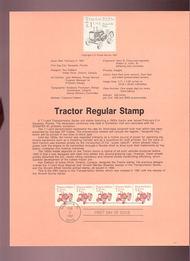 USPS Souvenir Page 87-5   2127      7.1c Tractor Coil 87-5