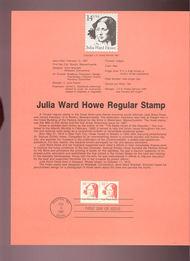 USPS Souvenir Page 87-6   2177      14c Julia Ward How 87-6