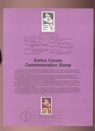 USPS Souvenir Page 87-8   2250      22c Enrico Caruso 87-8