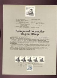 USPS Souvenir Page 87-10   2226      1c Locomotive Coi 87-10