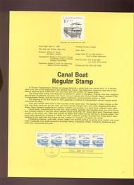 USPS Souvenir Page 87-12   2259      10c Canal Boat Coi 87-12