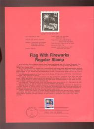 USPS Souvenir Page 87-15   2276      22c Flag & Firewor 87-15
