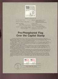 USPS Souvenir Page 87-16   2215b     22c Flag Coil(2) 87-16