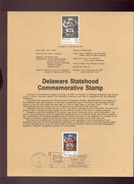 USPS Souvenir Page 87-22   2336      22c Delaware 87-22