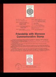 USPS Souvenir Page 87-23   2349      22c U. S./Morocco 87-23