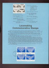 USPS Souvenir Page 87-25   2351-4     22c Lacemaking 87-25