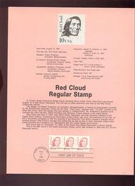 USPS Souvenir Page 87-26   2176      10c Red Cloud 87-26
