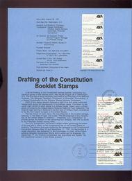 USPS Souvenir Page 87-29   2355-59    22c Constitution B 87-29