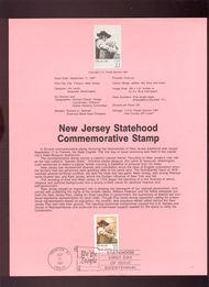 USPS Souvenir Page 87-30   2338      22c New Jersey 87-30