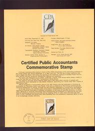 USPS Souvenir Page 87-32   2361      22c Cert. Public A 87-32