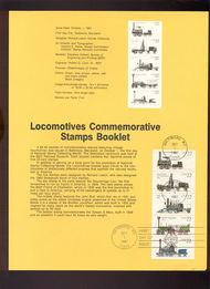 USPS Souvenir Page 87-34   2362-66    22c Locomotive Bkt 87-34