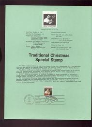 USPS Souvenir Page 87-35   2368      22c Christmas Cont 87-35