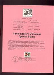 USPS Souvenir Page 87-36   2367      22c Christmas Trad 87-36