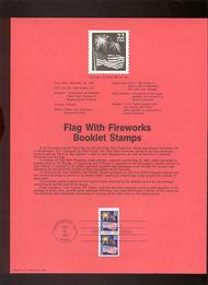 USPS Souvenir Page 87-37   2276a     22c Fireworks Book 87-37