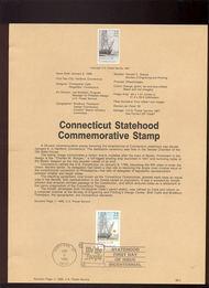 USPS Souvenir Page 88-2   2340      22c Connecticut St 88-2