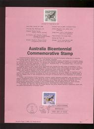USPS Souvenir Page 88-4   2370      22c Australia Bice 88-4