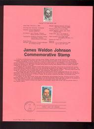 USPS Souvenir Page 88-5   2371      22c James W. Johns 88-5