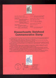 USPS Souvenir Page 88-7   2341      22c Massachusetts 88-7