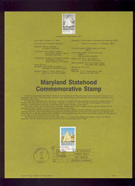 USPS Souvenir Page 88-8   2342      22c Maryland. 88-8