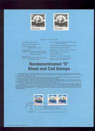 USPS Souvenir Page 88-11   2277/2279   'E'(25c)Earth 88-11