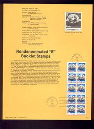 USPS Souvenir Page 88-12   2282a     'E'(25c) Earth Bkl 88-12