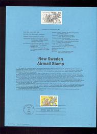 USPS Souvenir Page 88-14   C117      44c USA/New Sweden 88-14