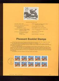 USPS Souvenir Page 88-15   2283a     25c Pheasant Bklt  88-15