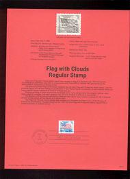 USPS Souvenir Page 88-18   2278      25c Flag w/Cloud 88-18