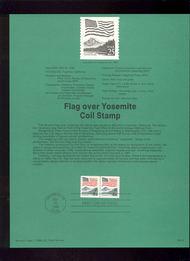 USPS Souvenir Page 88-20   2280      25c Flag/Yosemite  88-20