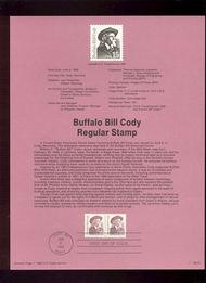 USPS Souvenir Page 88-23   2178      15c Buffalo Bill C 88-23