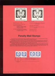 USPS Souvenir Page 88-24   O138A/O141   15c & 25c Official 88-24