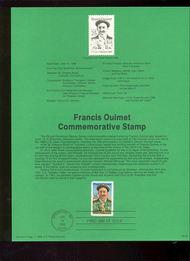USPS Souvenir Page 88-25   2377      25c Francis Ouimet 88-25