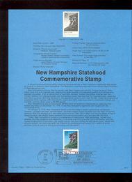 USPS Souvenir Page 88-27   2344      25c New Hampshire 88-27