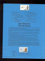 USPS Souvenir Page 88-28   C119      36c Igor Sikorsky 88-28