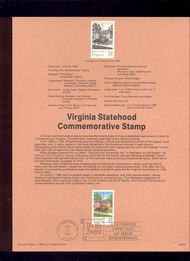 USPS Souvenir Page 88-29   2345      25c Virginia 88-29