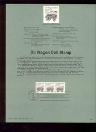 USPS Souvenir Page 88-30   2130      10.1c Oil Wagon Co 88-30
