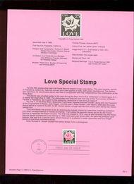 USPS Souvenir Page 88-31   2378      25c Love 88-31