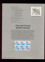USPS Souvenir Page 88-32   2285Ac     25c Flag/Clouds Bk 88-32