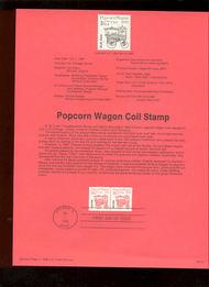 USPS Souvenir Page 88-33   2261      16.7c Popcorn Wago 88-33
